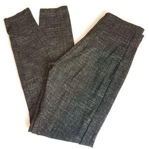 Lysse Mara Gray Tweed Seamed Ponte Leggings Sz S